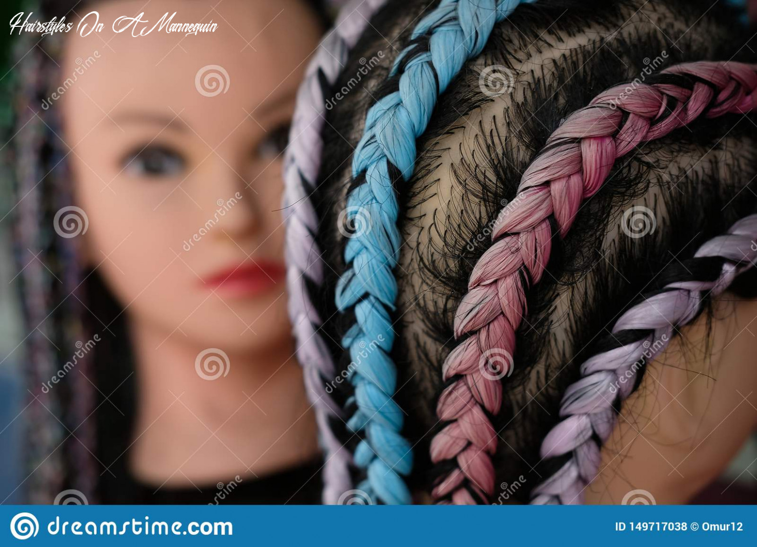 Street mannequin for hairstyles and braids stock photo image of
