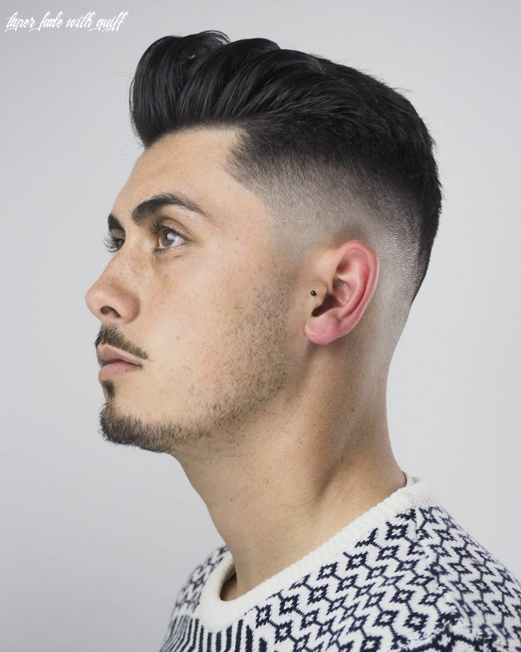 Tapered fade with clean quiff taper fade with quiff