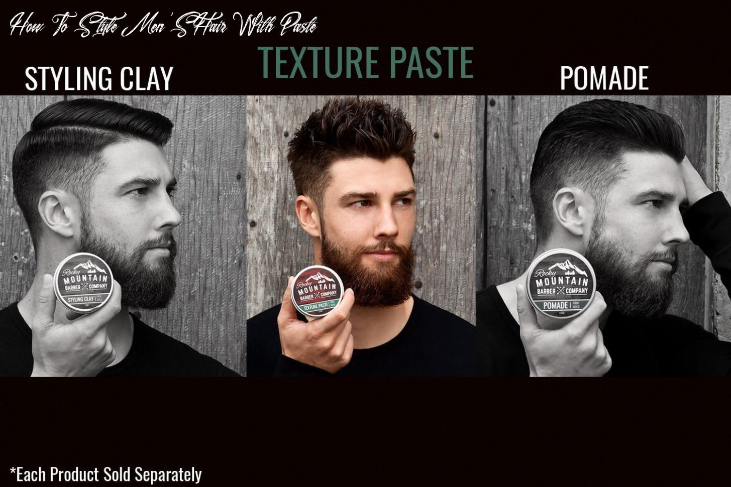 Texture paste for men – canadian made hair styling cream with