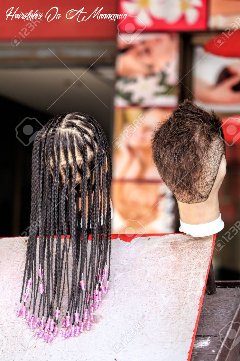 The hair on the mannequin examples of hairstyles for female