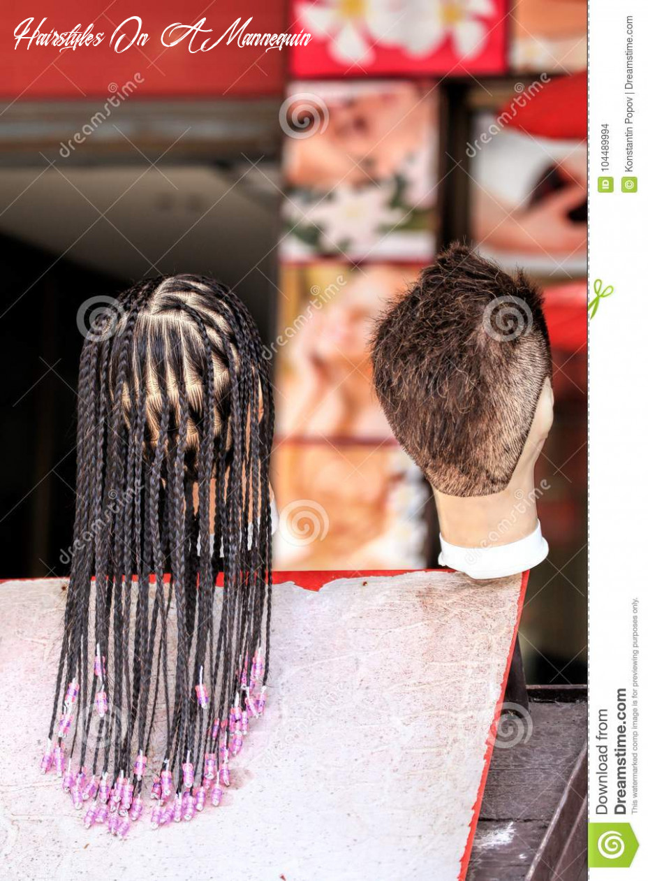 The hair on the mannequin stock photo