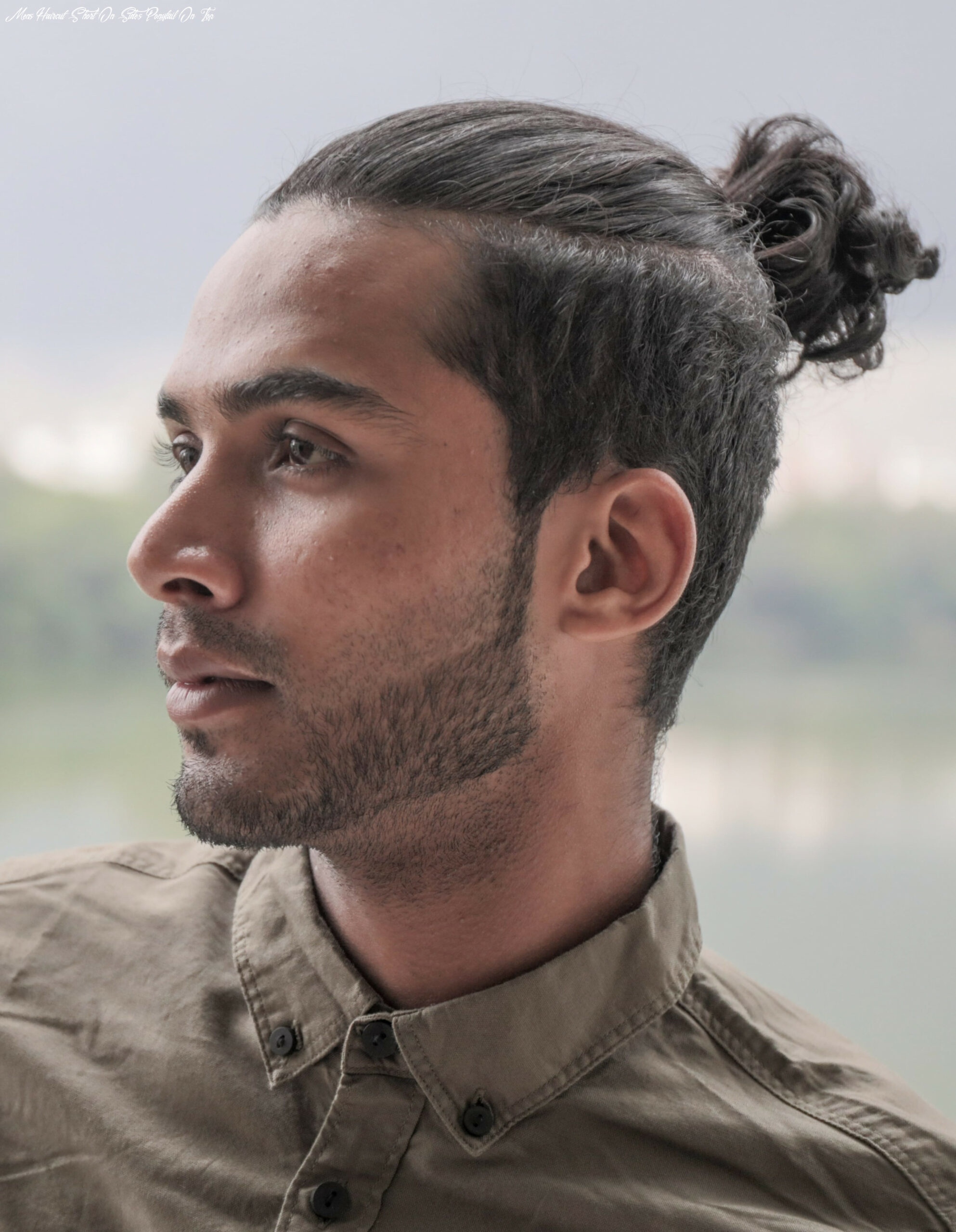 The top knot hairstyle visual guide for men (11 different styles) mens haircut short on sides ponytail on top