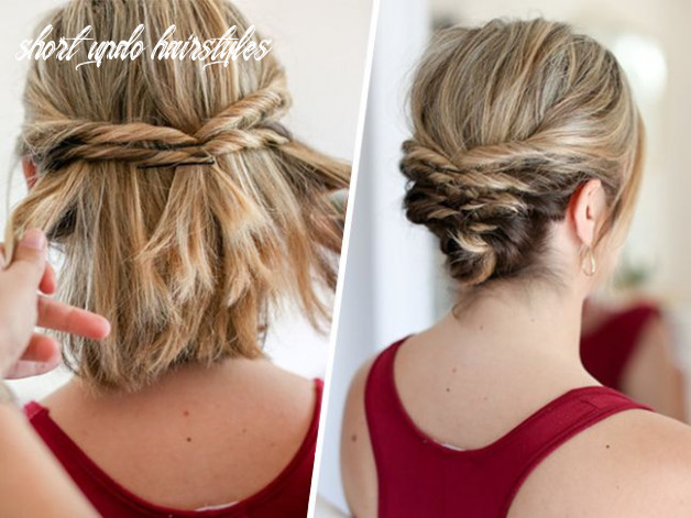 This quick messy updo for short hair is so cool | frisuren, frisur