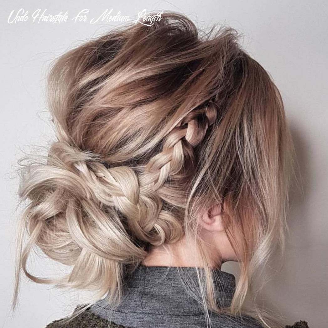 Trendy updos for medium length hair, updo hairstyle ideas | updos