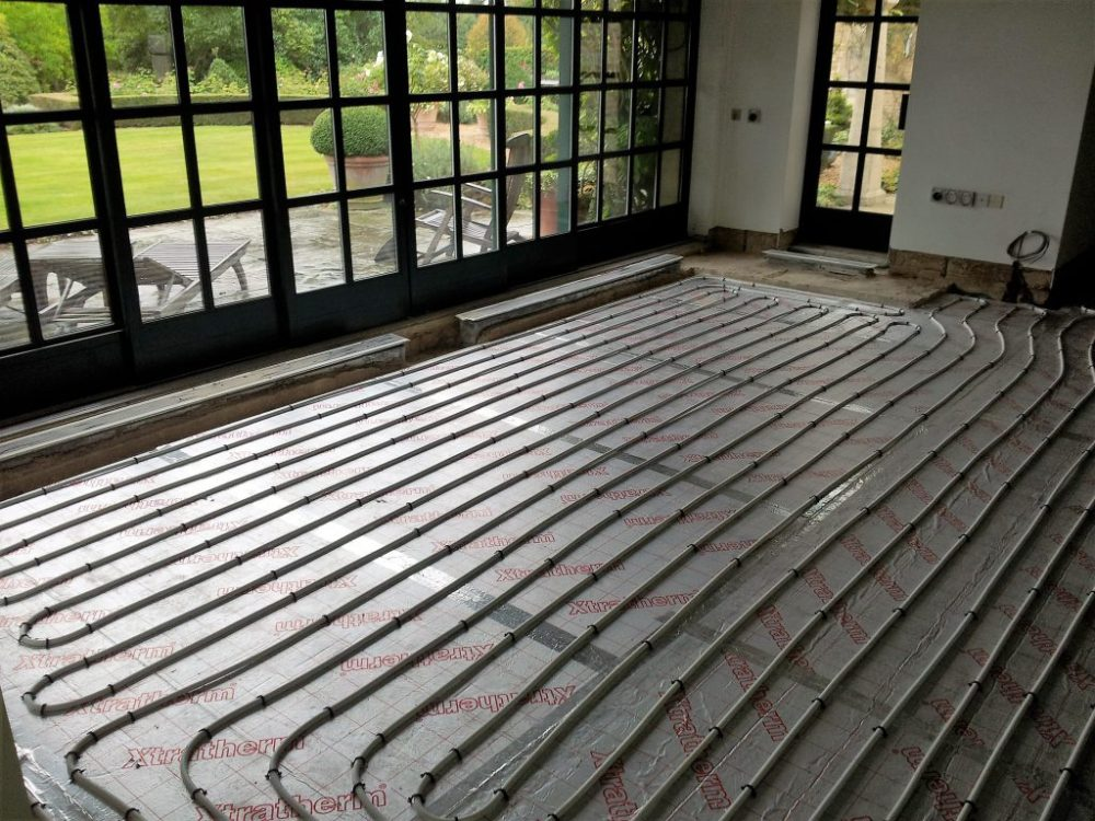 medium resolution of installation of small one zone underfloor heating system