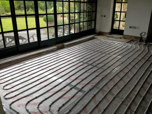 small resolution of installation of small one zone underfloor heating system