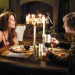 Nerdy guy has a romantic dinner with a hot chick