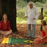 Kumar Pallana teaches meditation.