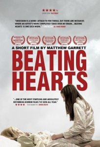 Poster for Beating Hearts featuring Gianna Bruzzese kneeling over Georgeanne Bruzzese