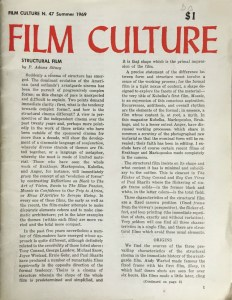 Cover of Issue 47 of Film Culture magazine