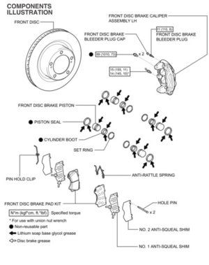 Toyota Brake Pads Diagram Pictures to Pin on Pinterest