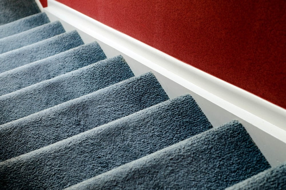 Best Type And Style Of Carpet For Hallway Stairs And Bedroom   Felt Back Carpet On Stairs   Stair Treads   Loop Feltback   Rolls Flecked   Purple   Flooring