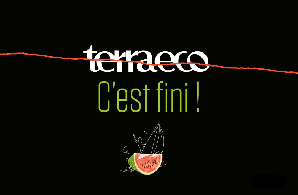 TerraEco c'est fini (Crédit illustration : Quentin Vijoux pour « Terra eco » / Graphisme : Denis Esnault)