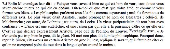 Name dropping de haut standing avec Voltaire