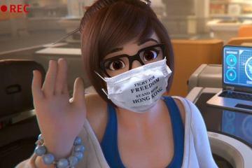 Mai, personnage d'Overwatch, est devenue l'idole des manifestants pro-démocratie d'Hong Kong