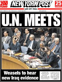 Weasels at the UN (Feb. 2003)