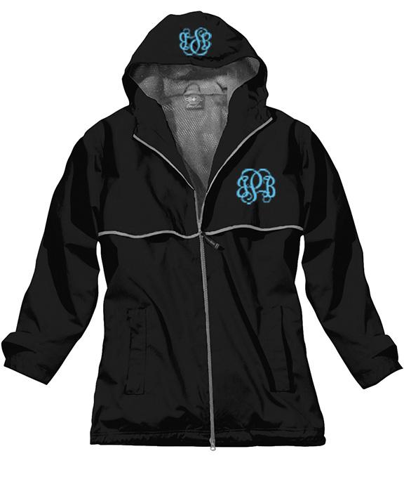 monogram rain jacket
