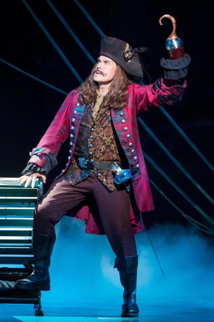 John Davidson as Captain Hook in Finding Neverland The Musical