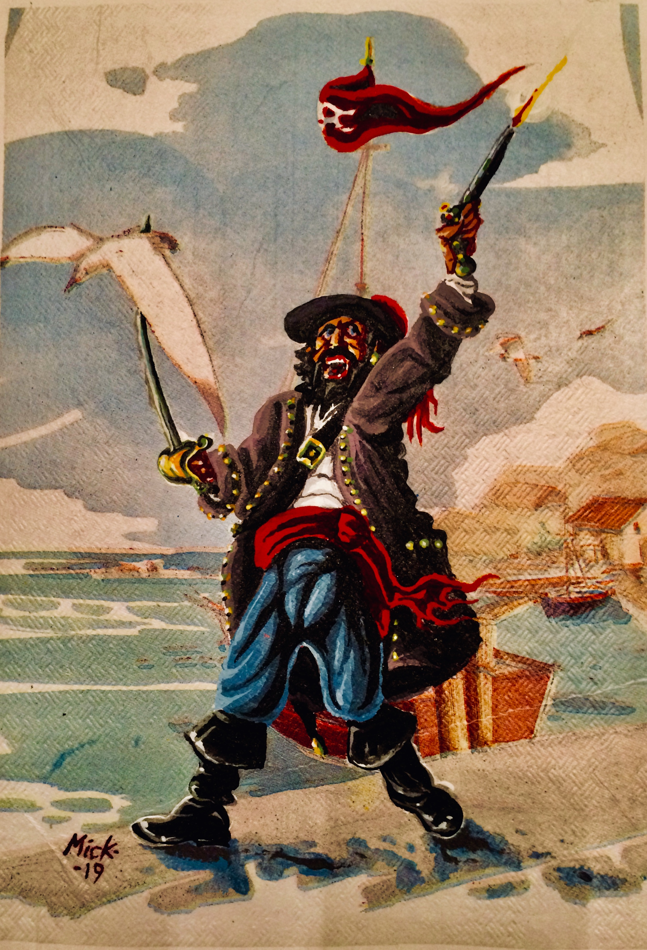 Mike Hawthorne Spanish Table Cloth Pirate