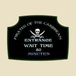 Pirates of the Caribbean Queue Sign