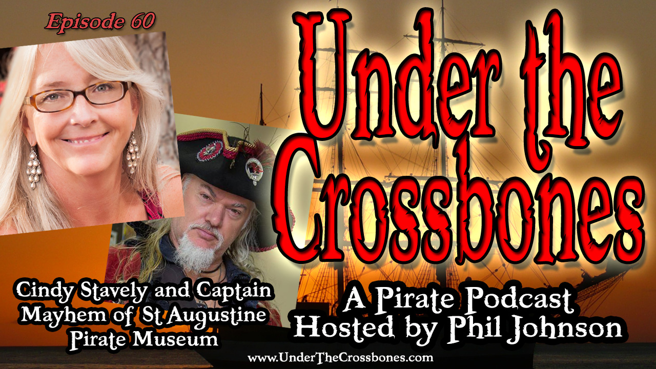 Cindy Stavely and Captain Mayhem of St Augustine Pirate Museum