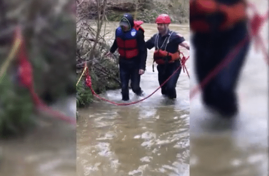 Video: Two hikers rescued from fast moving waters in Chattahoochee National Forest