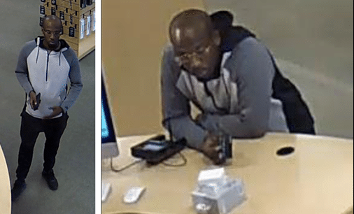Shoplifter walks out of store with MacBook in his pants