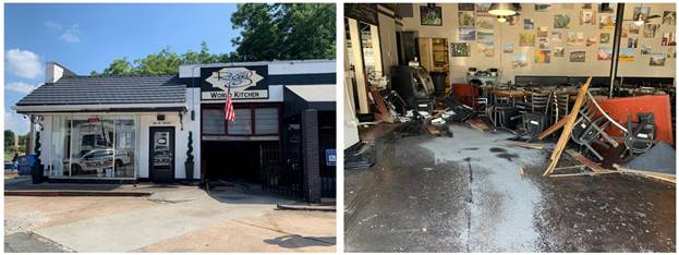 Car crashes into Buford restaurant