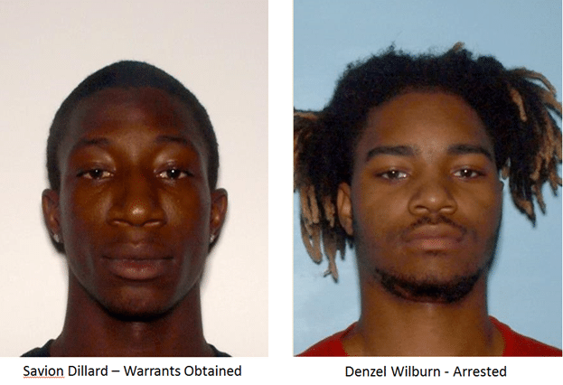 Police have named two suspects in the shooting of a 15-year-old in Buford. One of them is still on the run