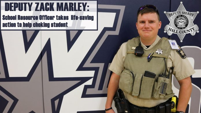 Hall County school resource officer saves student from choking