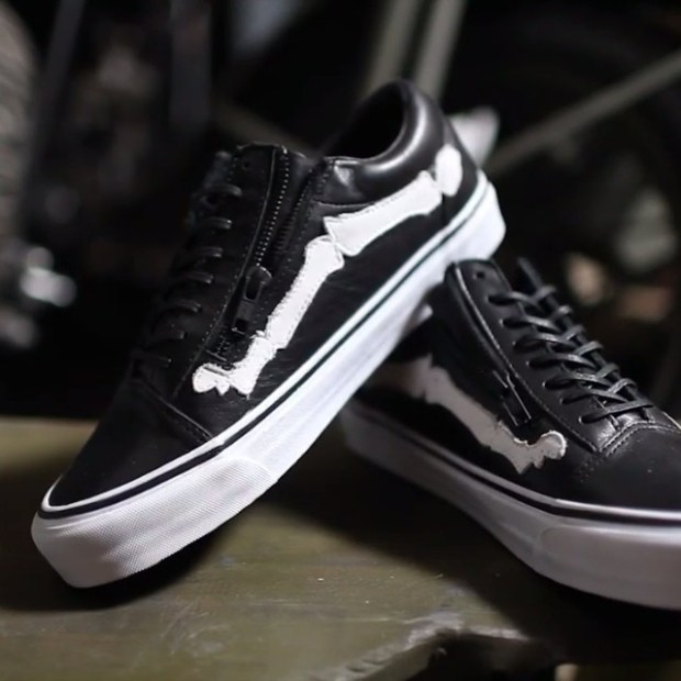 "via IG! Here you go folks! Vans Vault x Blends Old Skool Zip LX ""Bones"". Speechless!  #blends #blendsvans #underthepalms"