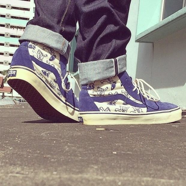 via IG! @deediinnn: Vans Vault - Surf Shaka Sk8-Hi LX #underthepalms