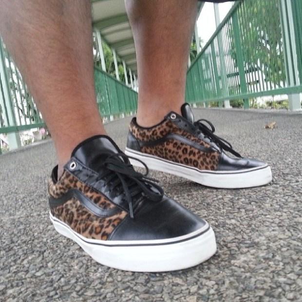 "via IG! @amokhulkamania: Vans Syndicate x AVE - Old Skool 92 Pro ""S"" Cheetah #underthepalms"