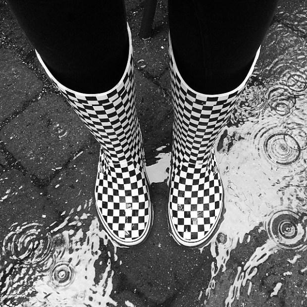 via IG! @jvanss: Pretty dope checkerboard rain boots photo.  #underthepalms