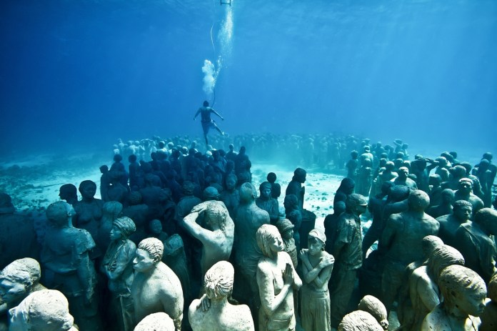 Image result for Underwater sculptures - Mexico