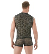 Gregg Homme Camo Muscle Shirt Back