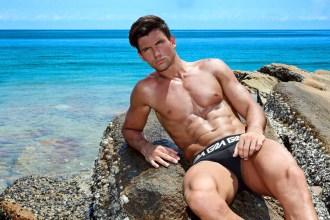 Garcon Model underwear Best underwear black trunks for men best quality beach 1