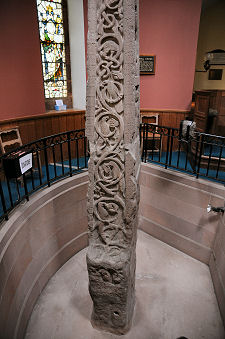 Lower Part of Cross, Showing the Recessed Floor Needed to Allow it to Stand in the Church