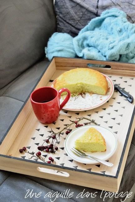 gâteau vert amande orange curaçao tupperware