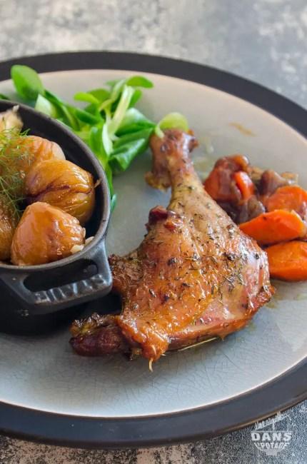 cuisse de canard braisée au four