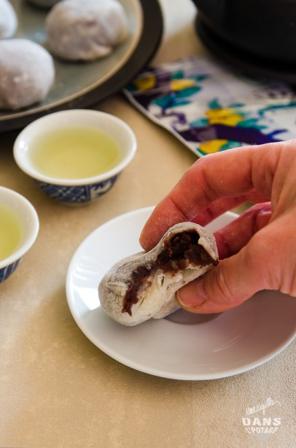 daifuku mochi , pâtisserie japonaise de riz gluant et anko