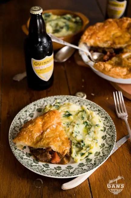 beef & guinness pie