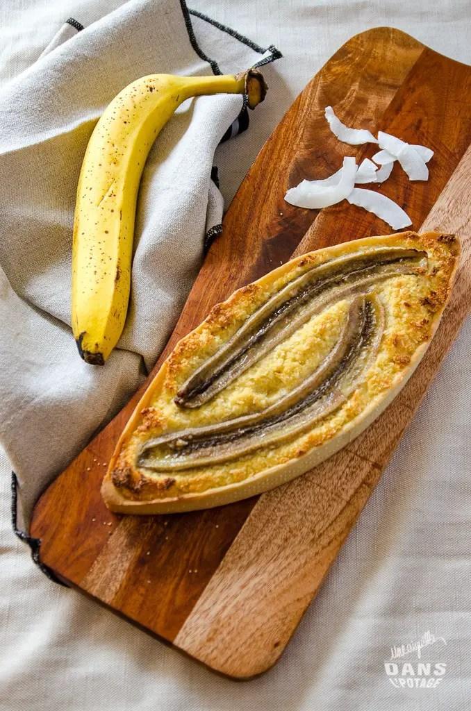 tarte banane noix de coco
