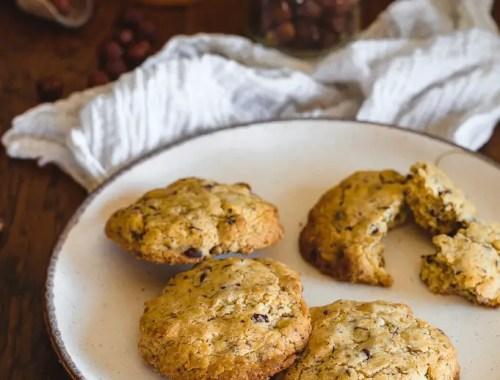 cookies aux noisettes (3 jaunes d'oeufs)