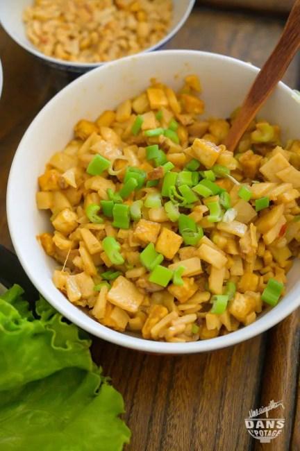 poêlée de tofu ferme