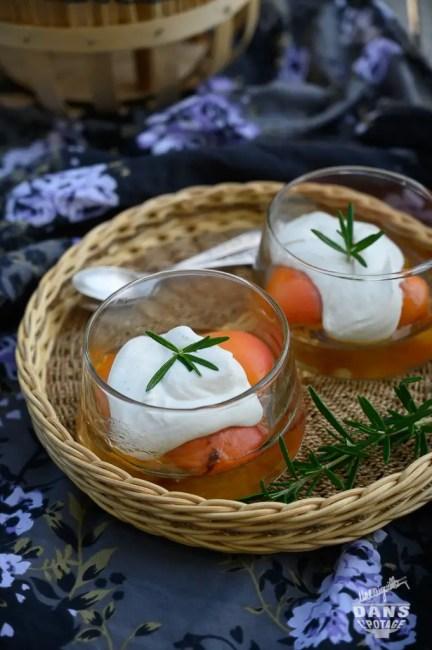 abricots poêlés romarin mascarpone