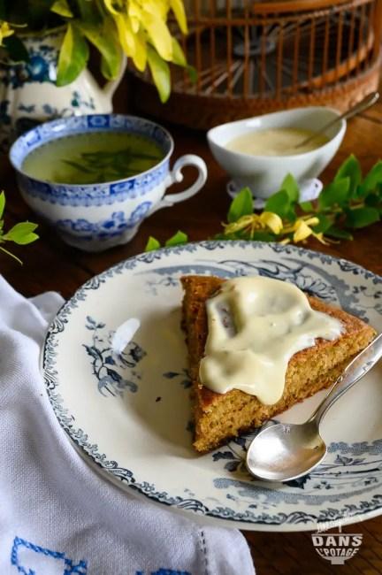 gâteau courgette pomme nappage citron vert
