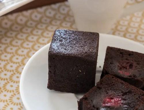 bouchée-cube chocolat griotte