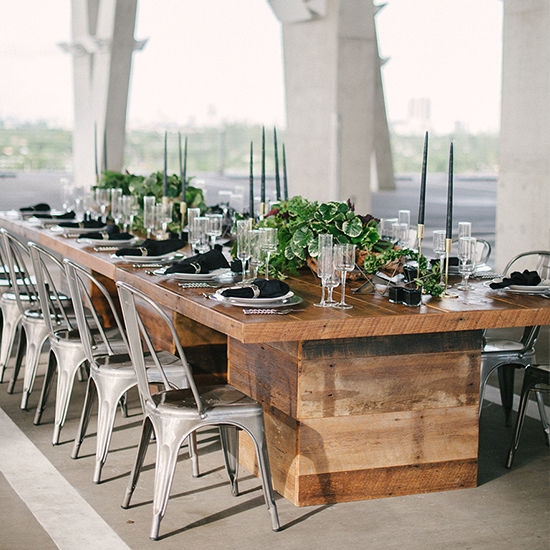 party rentals tables and chairs outdoor wood folding event furniture rental miami vintage eclectic modern industrial