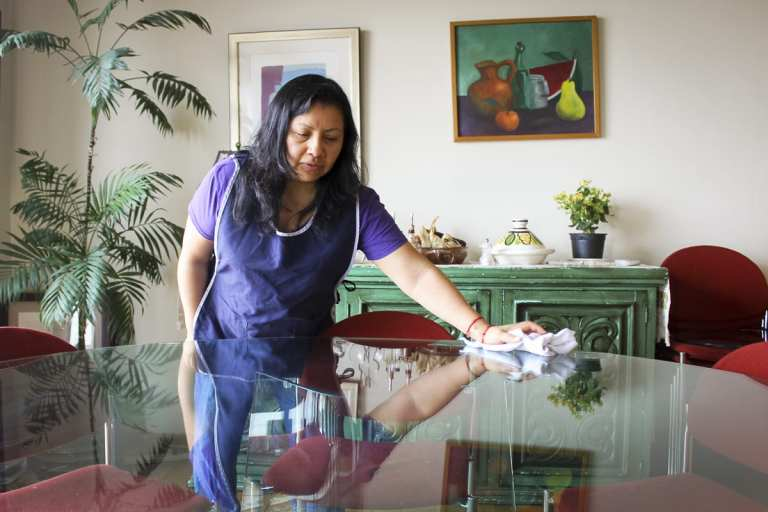 Ana Laura Aquino Gaspar, a domestic worker in Mexico City, has been cleaning homes for more than 25 years, but she's never had a formal work contract © | Global Press Journal/Mayela Sánchez